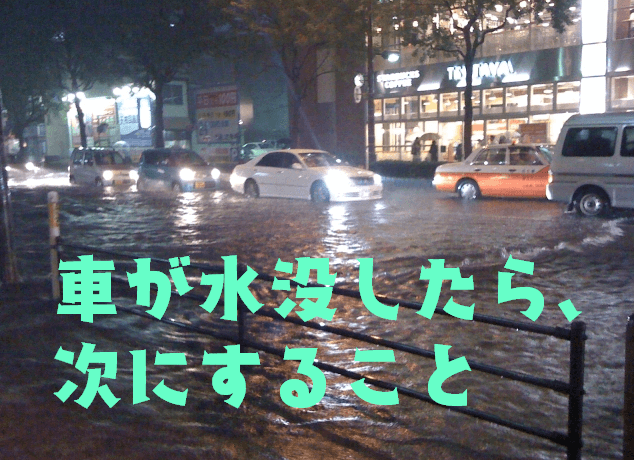車,水没したら